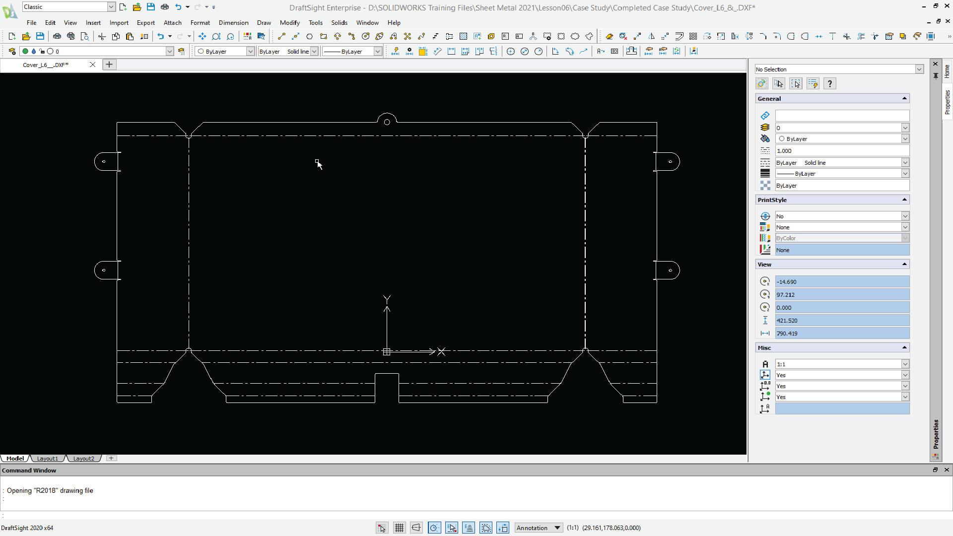 Draftsight Sheet metal
