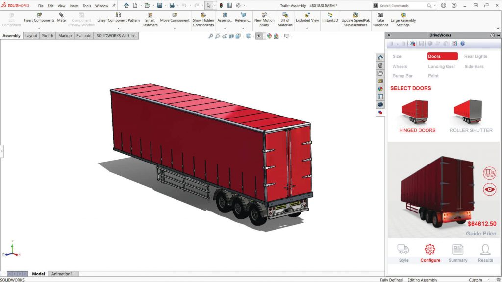 DriveWorks Configurator