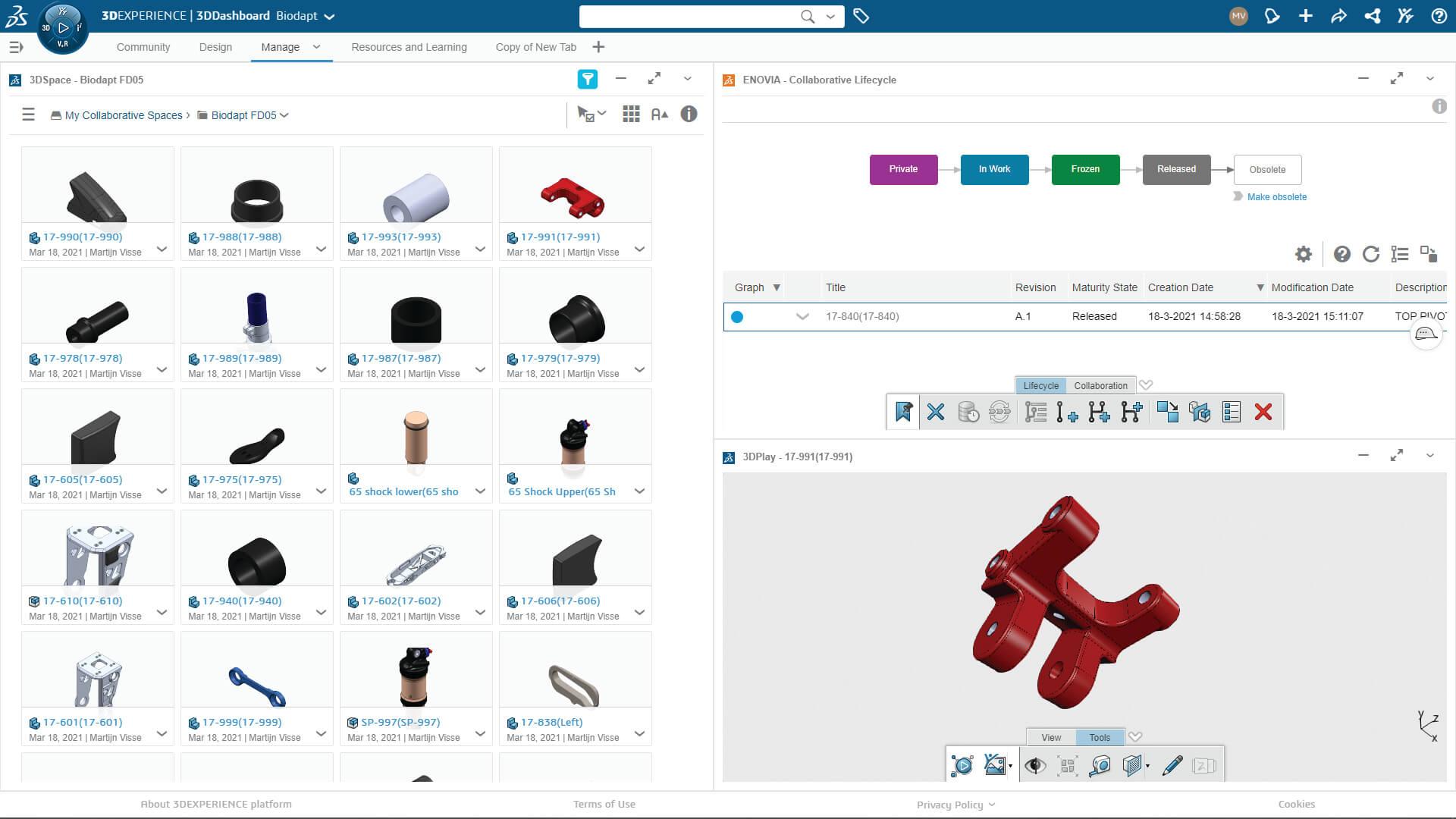 3DEXPERIENCE SOLIDWORKS Data Management