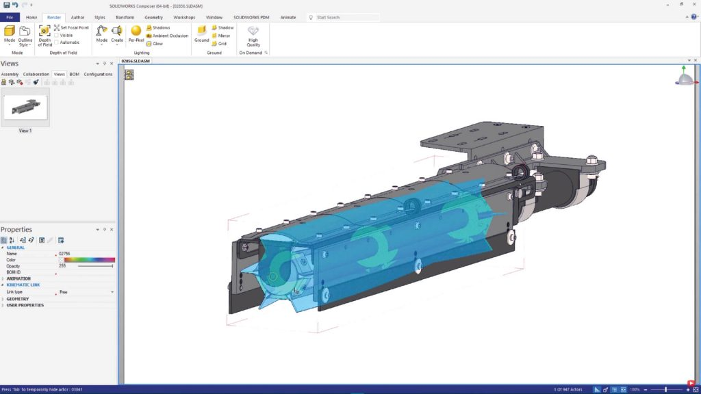 SOLIDWORKS Composer properties