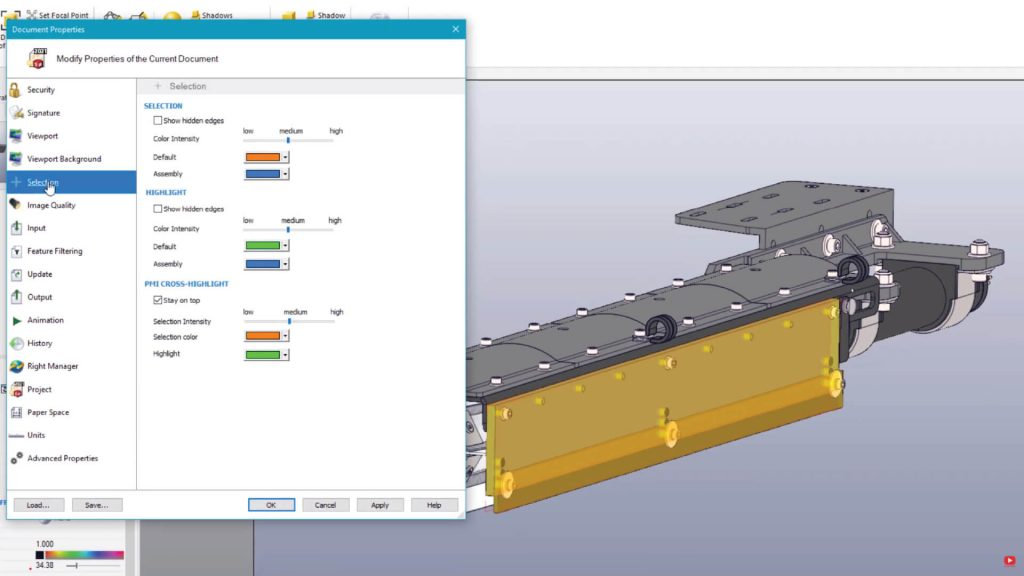 SOLIDWORKS Composer selection editor