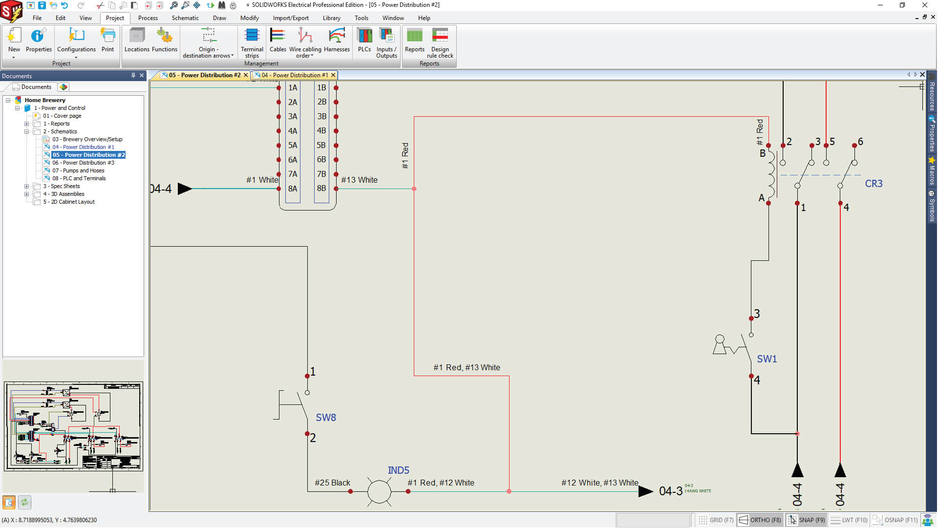 SOLIDWORKS Electrical Power Distribution