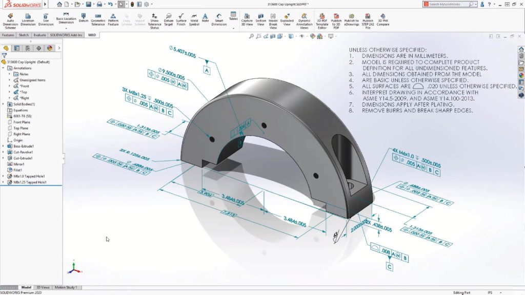 SOLIDWORKS MBD Annotations