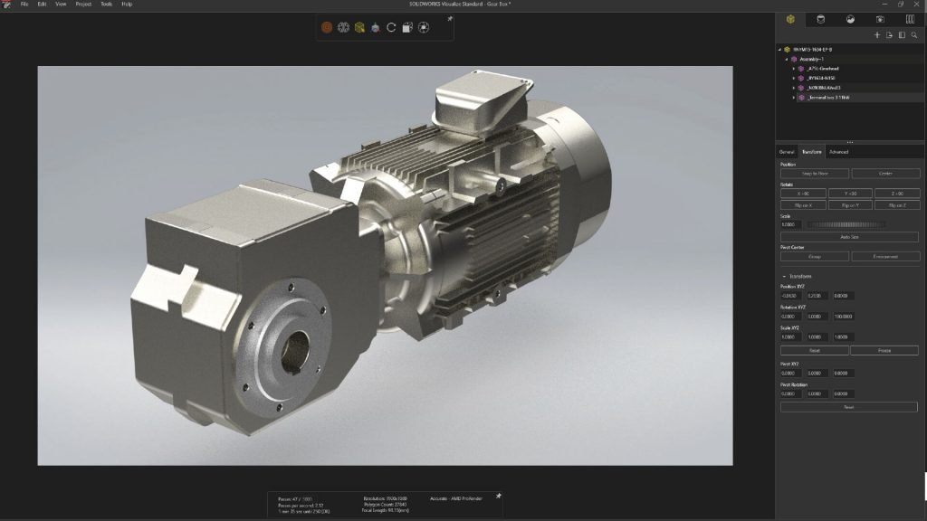 SOLIDWORKS Visualize Settings