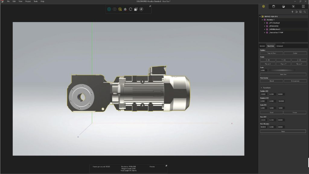 SOLIDWORKS Visualize Interface