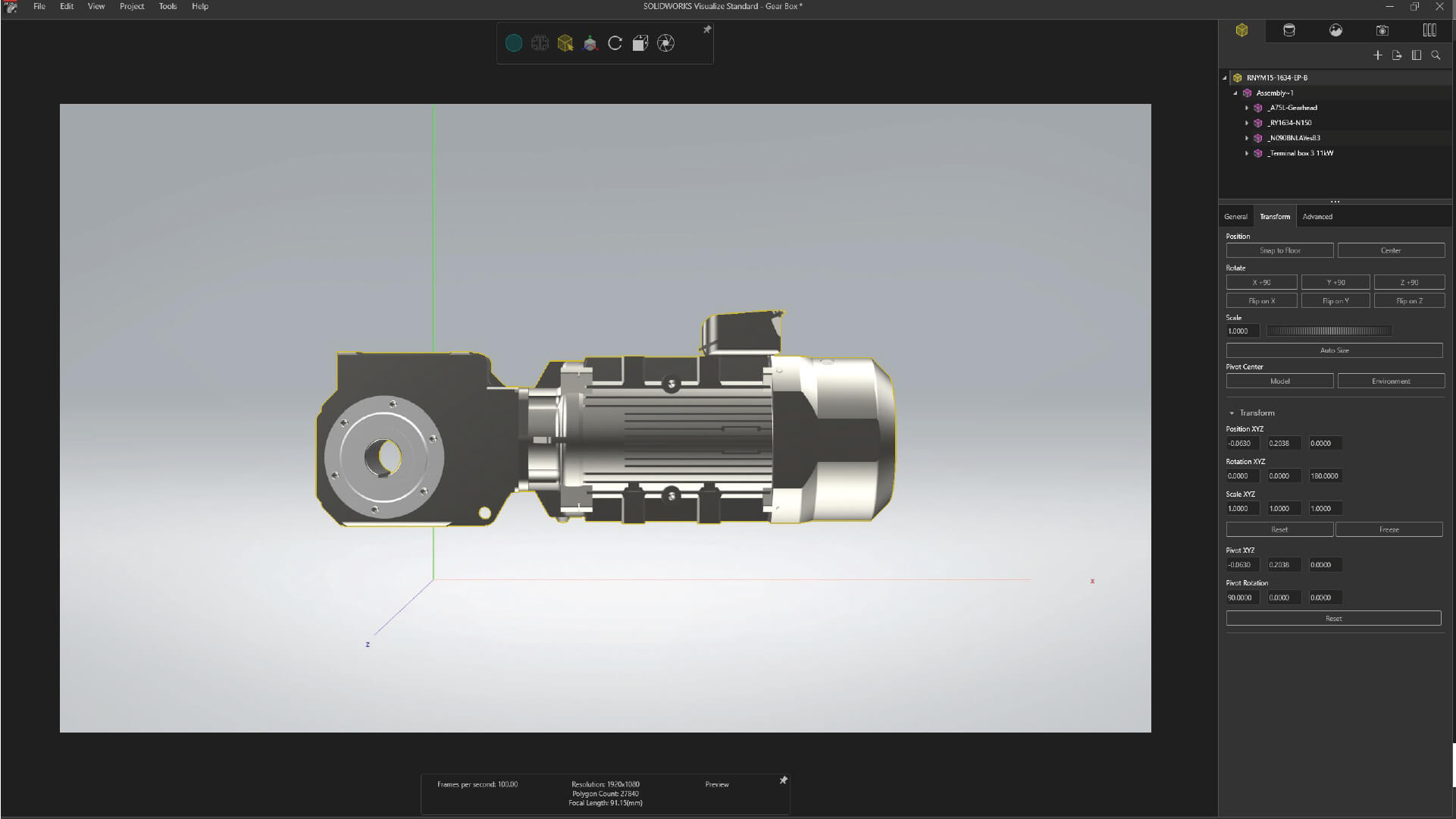 SOLIDWORKS Visualize Viewport