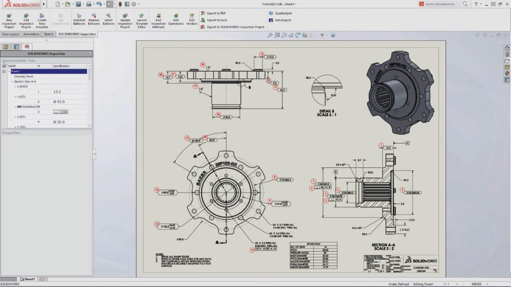SOLIDWORKS Inspection Annotations