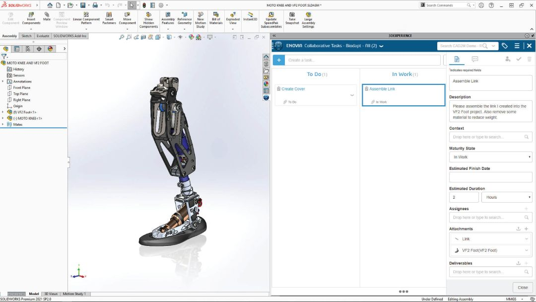 3DEXPERIENCE PLM assembly