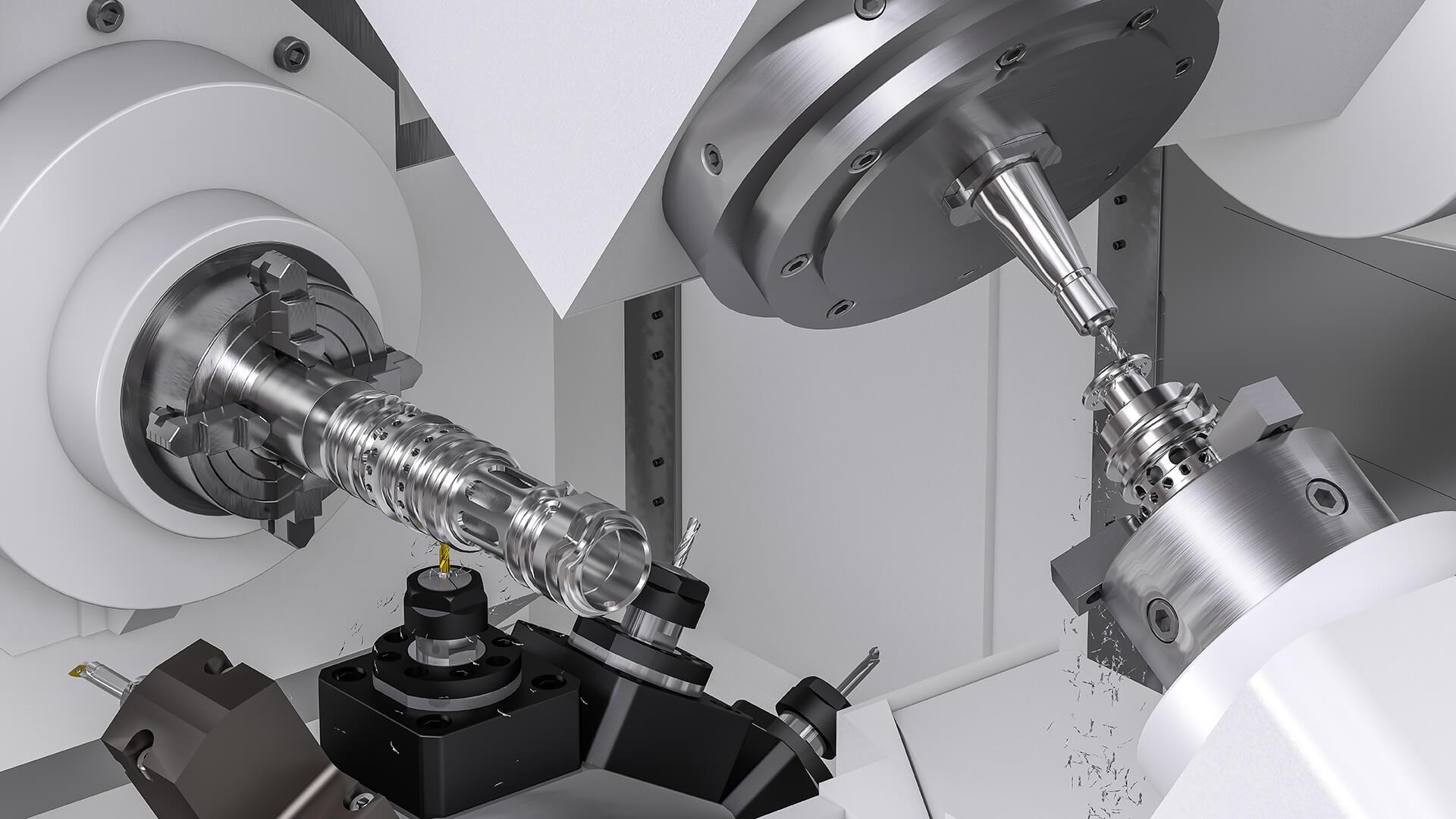 Mill Turn met SolidCAM 2021